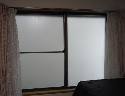 結露がつく窓