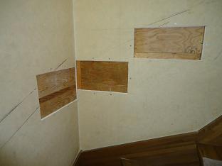 階段手すり取り付け作業